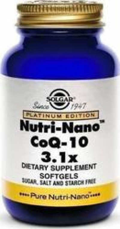 SOLGAR NUTRI NANO CO Q-10 3.1X SOFTGELS 50S