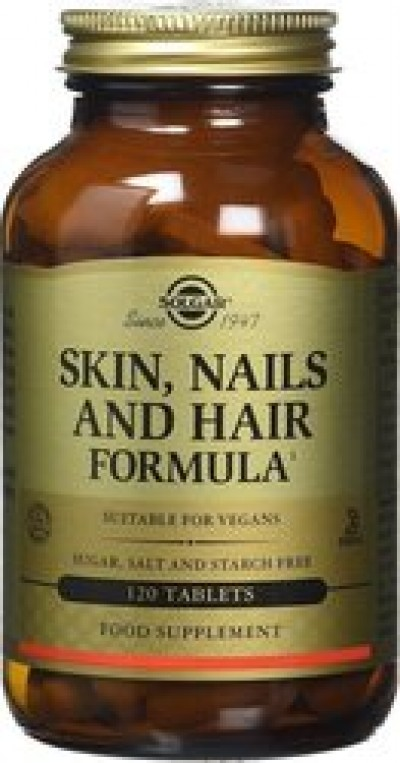 SOLGAR SKIN, NAILS AND HAIR FORMULA TABS 120S