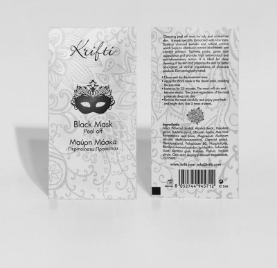 Krifti Black Mask Peel Off with aloe vera & bamboo charcoal powder 5ML