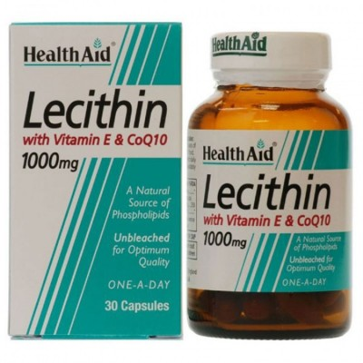Health Aid Lecithin 1000mg - Co Q10 and Vitamin E 30 κάψουλες