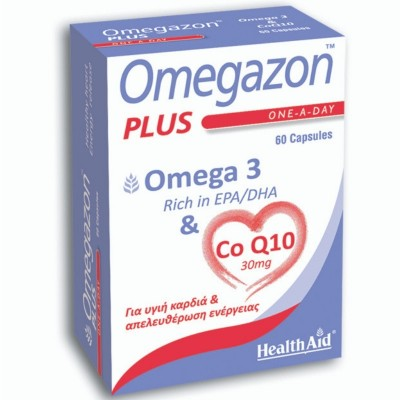 HEALTH AID OMEGAZON PLUS OMEGA-3 & CoQ10 60 ΚΑΨΟΥΛΕΣ