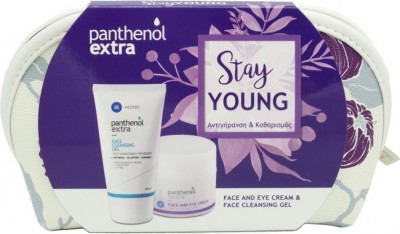 MEDISEI PANTHENOL EXTRA STAY YOUNG FACE AND EYE CREAM 50ml & FACE CLEANSING GEL 150ml ΔΩΡΟ ΤΣΑΝΤΑΚΙ