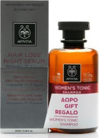 Hair Loss Night Serum 100ml & ΔΩΡΟ Women's Tonic Shampoo 250ml