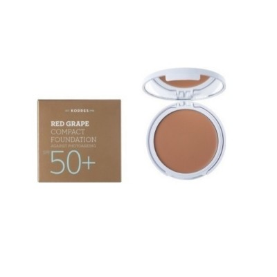 Korres Κόκκινο Σταφύλι Compact Foundation Spf50 Medium 8gr