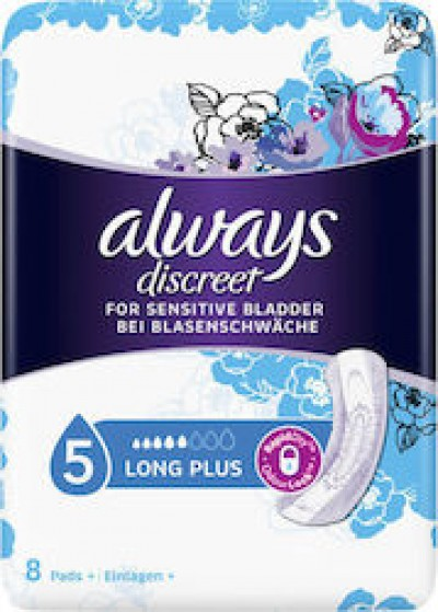 Always Discreet Discreet for Sensitive Bladder Long Plus 8τμχ