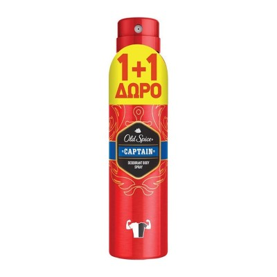 Old Spice Captain Deodorant Body Spray 1+1 2x150ml