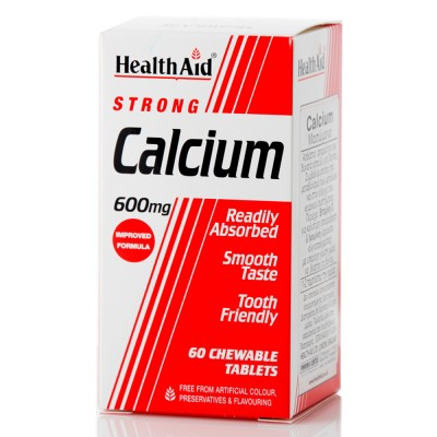 HEALTH AID STRONG CALCIUM 600MG CHEWABLE 60TABS