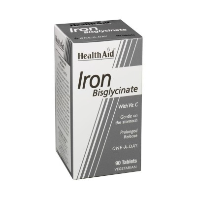 HEALTH AID IRON BISGLYCINATE WITH C 90 ΦΥΤΙΚΕΣ ΚΑΨΟΥΛΕΣ