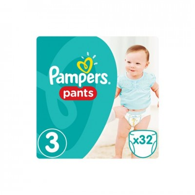 PAMPERS PANTS MAXI No3 6-11kg 32τμχ
