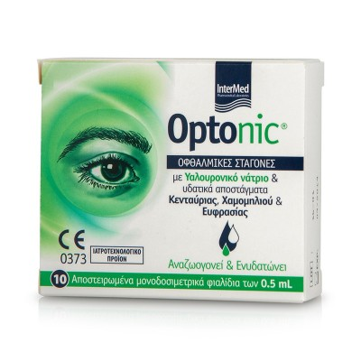 INTERMED OPTONIC EYE DROPS MONODOSE 10x0,5ML