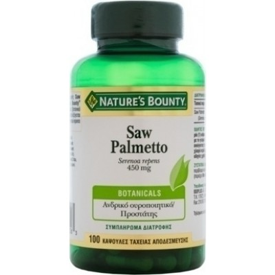 Nature's Bounty Saw Palmetto 450mg 100 κάψουλες