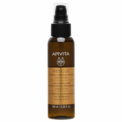 APIVITA RESCUE HAIR OIL ΛΑΔΙ ΘΡΕΨΗΣ & ΕΠΑΝΟΡΘΩΣΗΣ ΓΙΑ ΤΑ ΜΑΛΛΙΑ 100ML.