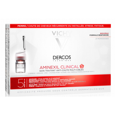 VICHY DERCOS AMINEXIL CLINICAL 5 FEMME 21X6ML