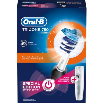 ORAL-B TRIZONE 750 SPECIAL EDITION BLACK + TRAVEL CASE