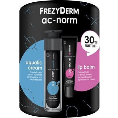 FREZYDERM AC-NORM AQUATIC CREAM 50ml & AC-NORM LIP BALM SPF15 15ml