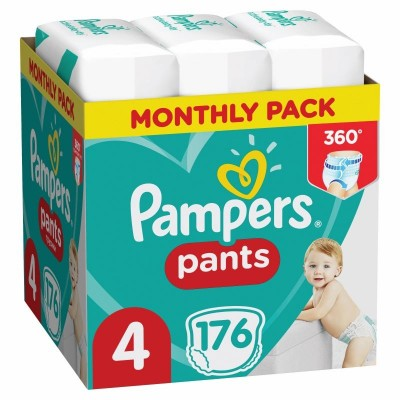 PAMPERS PANTS MONTHLY ΜΕΓΕΘΟΣ 4  (9-15 kg) – 176τμχ ΠΑΝΕΣ-ΒΡΑΚΑΚΙ