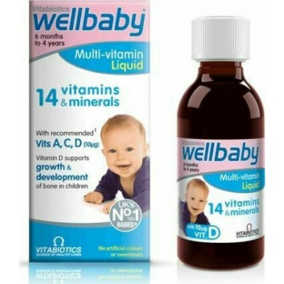VITABIOTICS WELLBABY MULTI-VITAMIN LIQUID 150ml