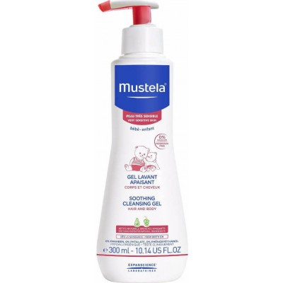 MUSTELA SOOTHING CLEANSING GEL HAIR AND BODY 300ML