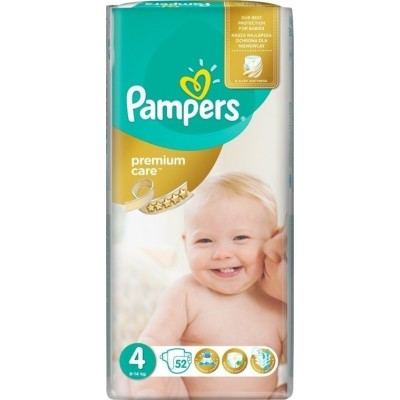 PAMPERS PREMIUM CARE 4 8-14KG 52ΤΕΜ