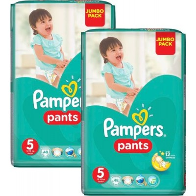 Pampers Jumbo Pack Pants No 5 (12-17 kg) 48τμχ 1+1 δωρο