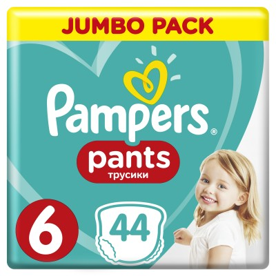 PAMPERS PANTS JUMBO PACK ΜΕΓΕΘΟΣ 6 (15+ kg) - 44 ΤΜΧ
