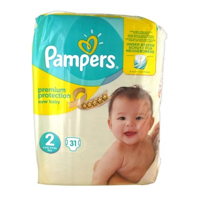 Pampers New Baby No2 Mini 3-6kg (31τεμ)