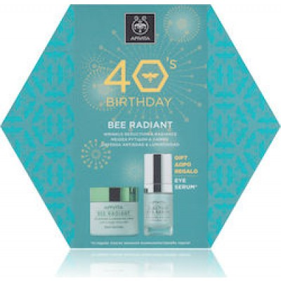 APIVITA 40s Birthday SET BEE RADIANT Rich Κρέμα ΠΛΟΥΣΙΑΣ Υφής 50ml + ΔΩΡΟ 5-Action Eye Serum 15ml