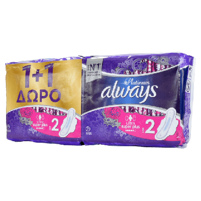 ALWAYS PLATINUM ULTRA SUPER PLUS 1+1ΔΩΡΟ (7+7τμχ)
