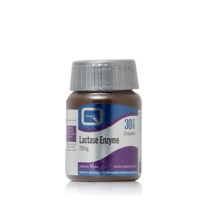 QUEST LACTASE 200MG LACTOSE DIGESTING ENZYME 30TAB