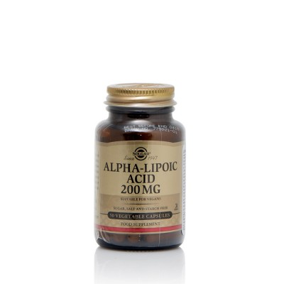 SOLGAR ALPHA LIPOIC ACID 200MG VEGICAPS 50S
