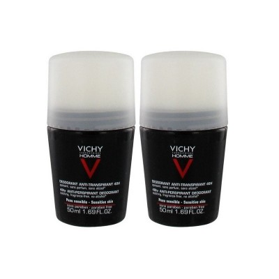 VICHY Promo Homme Deodorant Anti-Transpirant Control Extreme Roll-On 72H 50ml+50ml