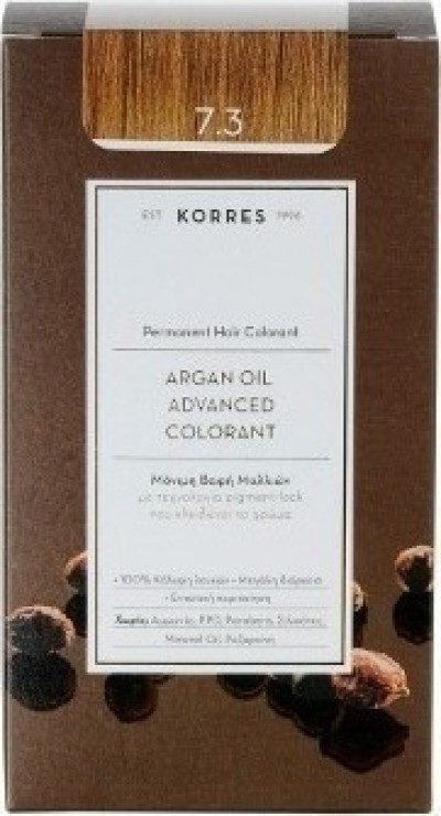KORRES ARGAN OIL ADVANCED COLORANT  7.3 ΞΑΝΘΟ ΧΡΥΣΟ 145ml