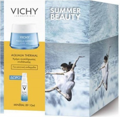 PROMO VICHY AQUALIA THERMAL LIGHT CREAM ΕΝΥΔΑΤΩΣΗ ΠΡΟΣΩΠΟΥ 50ml + ΔΩΡΟ VICHY MINERAL 89 10ml