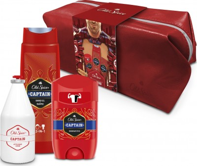 OLD SPICE SET CAPTAIN DEODORANT STICK 50ml, OLD SPICE CAPTAIN SHOWER GEL & SHAMPOO 250ml, OLD SPICE CAPTAIN AFTER SHAVE LOTION 100ml & ΝΕΣΕΣΕΡ