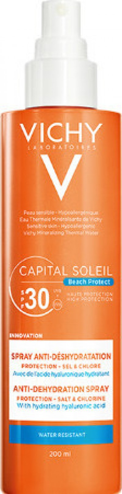 Vichy Capital Soleil Beach Protect Anti-dehydration SPF30 Αντιηλιακό Spray Με Υαλουρονικό 200ml