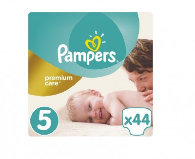 Pampers Premium Care Jumbo Pack No.5 (Junior) 11-18 kg Βρεφικές Πάνες, 44 τεμάχια
