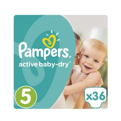 Pampers Active Baby Dry No5 ( 11-18Kg) 36 τμχ.