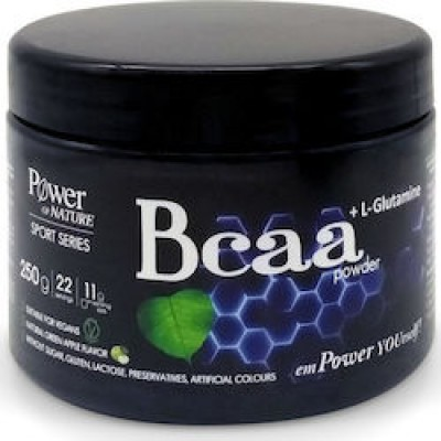 Power health sport series bcaa + l-glutamine Πράσινο Μήλο 250gr