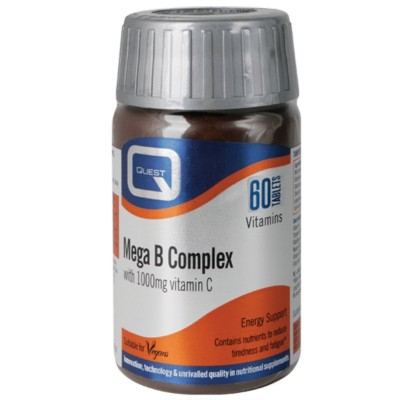 Quest Naturapharma Mega B Complex with 1000mg Vitamin C 60 ταμπλέτες