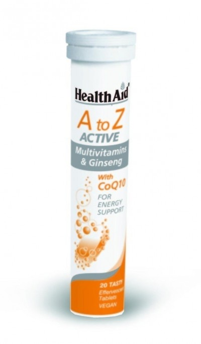 HEALTH AID A TO Z ACTIVE MULTIVITAMINS & GINSENG 20 ΑΝΑΒΡΑΖΟΝΤΑ ΔΙΣΚΙΑ