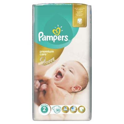 PAMPERS PREMIUM CARE No2 3-6kg 50TEM