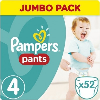 Pampers Jumbo Pack Pants No 4 (9-15kg) 52τμχ