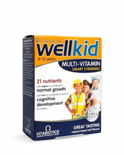 VITABIOTICS WELLKID MULTI-VITAMIN SMART CHEWABLE 30TABS