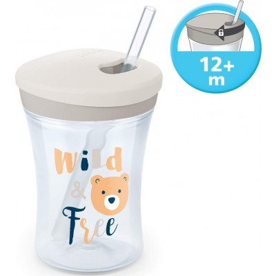 NUK ACTION CUP  ΚΥΠΕΛΛΟ ΜΕ ΚΑΛΑΜΑΚΙ 230ml 12m+