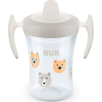 NUK TRAINER CUP 6m+ ΓΚΡΙ ΑΡΚΟΥΔΑΚΙΑ 230ml