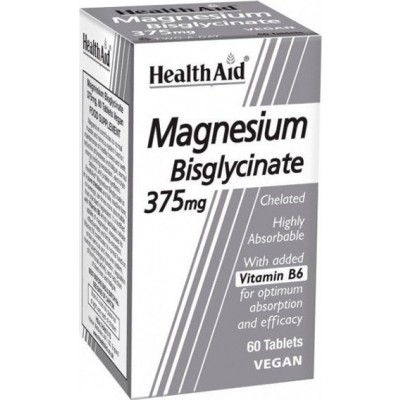 HEALTH AID MAGNESIUM BISGLYCINATE 375mg 60 TABLETS