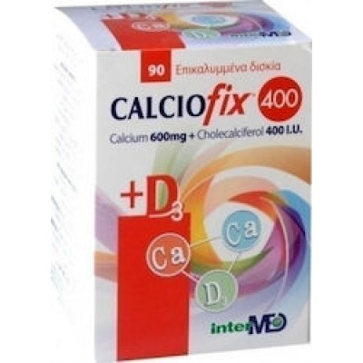 Intermed Calciofix 400 600mg + 400IU D3 90 ταμπλέτες