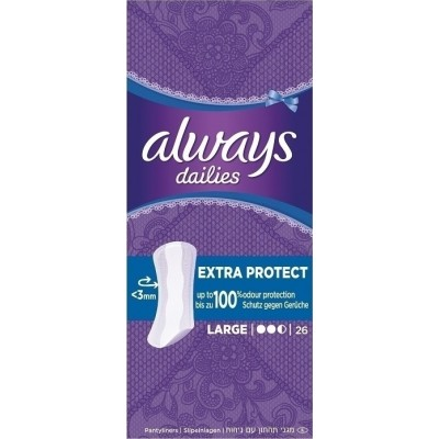 ALWAYS DAILIES ΣΕΡΒΙΕΤΑΚΙΑ EXTRA PROTECT LARGE 26 ΤMX